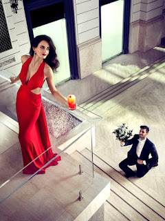 Eva Green Beautiful Red Dress Pic In Balcony
