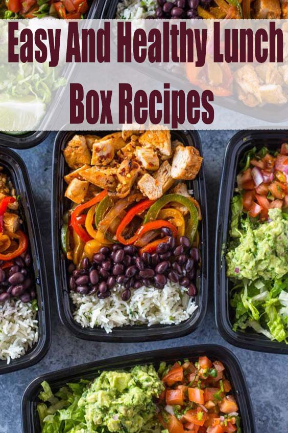 Easy And Healthy Lunch Box Recipes