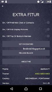 BBM Mod Apk Dark NAVY 3.0.1.25 Terbaru