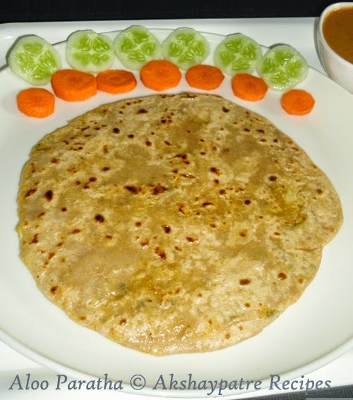 shallow fried the paratha