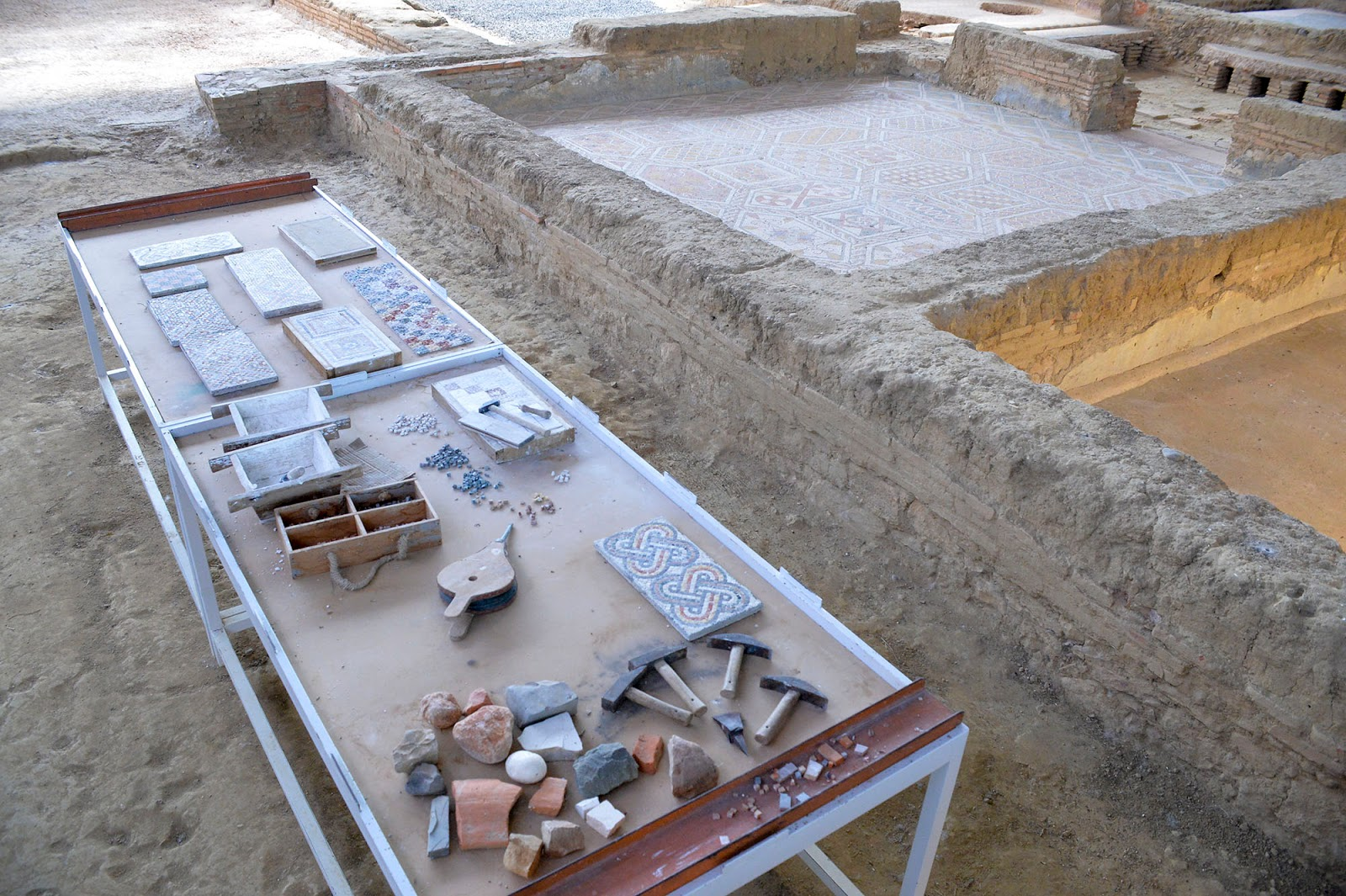villa romana olmeda palencia roman ruins spain