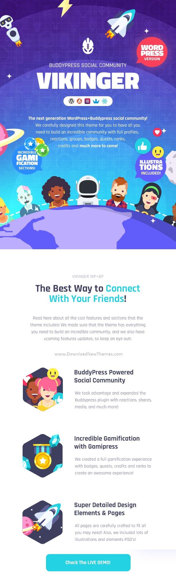 Social Community WordPress Theme