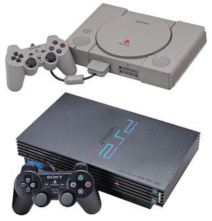 Comparación que muestra la evolución del PlayStation al PlayStation 2