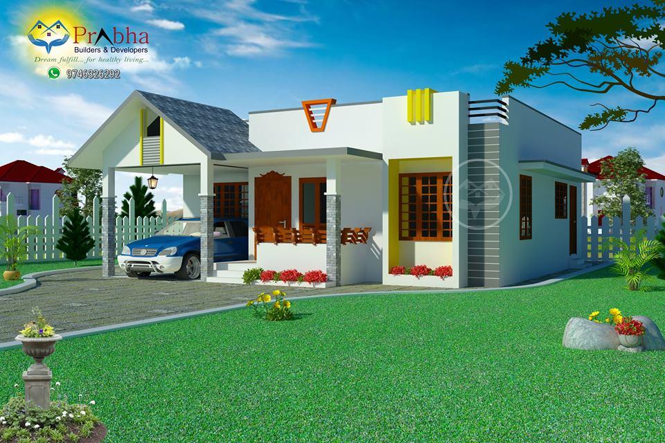 Beautiful Low Cost 3 Bedroom Home Plan In 1309 Sqft: Low Cost 3 Bedroom Home In 1520 Square Feet For 24 Lakhs