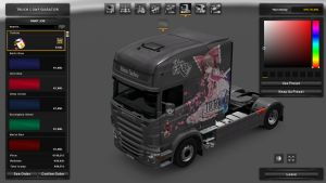 Reimu Skin for Scania RJL Longline