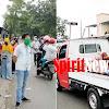 Camat Marbo Arahan Singkat Dan Bagi Masker Pada Pengemudi Dan Penumpang Di Jalan Poros Takalar Makassar