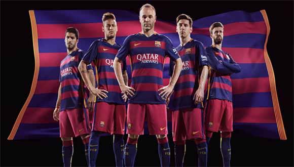 Áo bóng đá siêu cấp Barcelona sân nhà 2016 - 2017