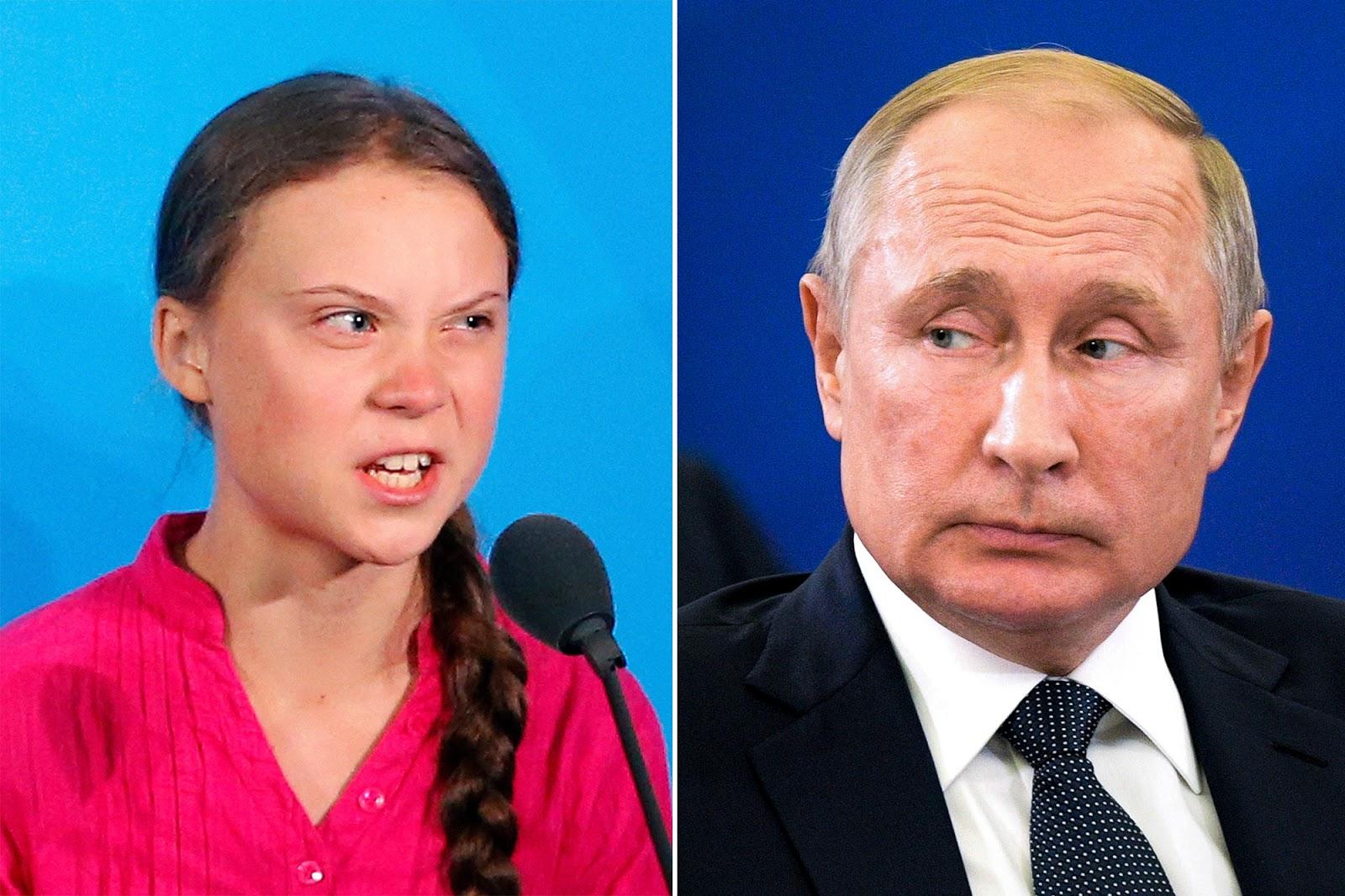 Greta Thunberg cambia il suo profilo dopo le parole di Vladimir Putin