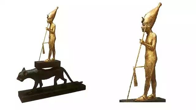 King Tutankhamun upon a Panther