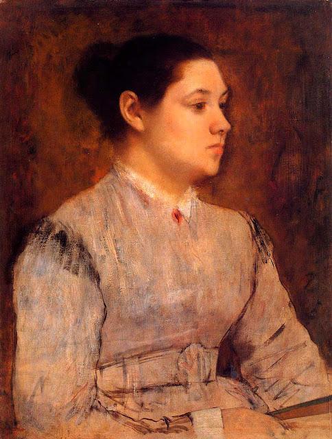 Эдгар Дега - Портрет молодой женщины (1864-1865)