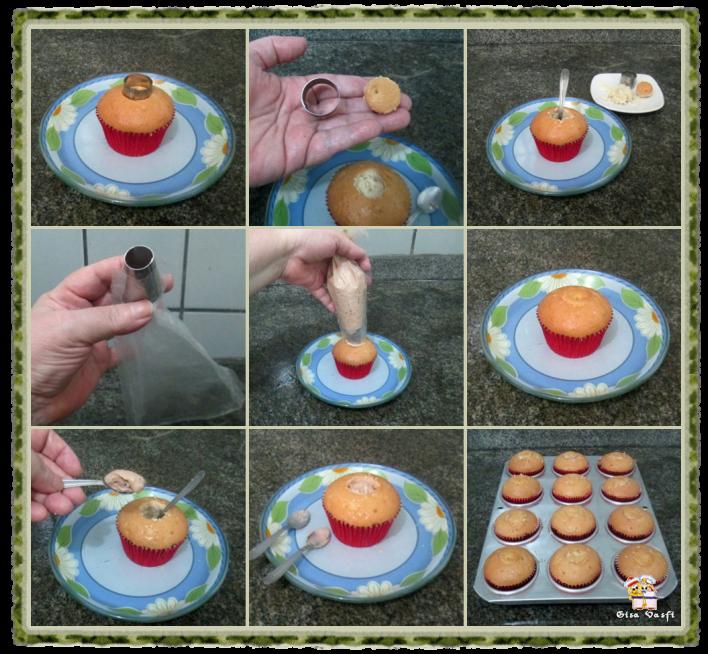 Cupcake de coco com nozes 9