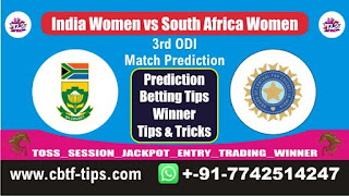 Who will win Today, today cricket prediction, Womens ODI Match RSAW vs INDW