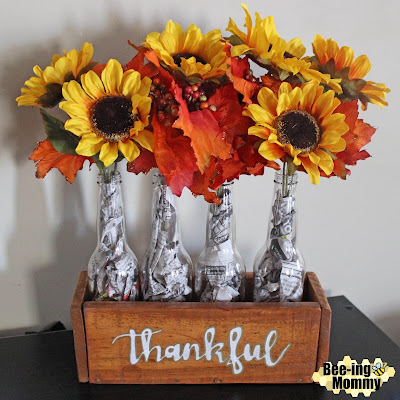 DIY Thankful Wood Centerpiece,Thankful Wood Centerpiece, DIY Wood Centerpiece, Wood Centerpiece, DIY Centerpiece, Thankful centerpiece, centerpiece, fall decor, fall home decor, home decor, fall centerpiece, fall decoration, fall floral centerpiece, fall flowers, DIY Fall decor, thankful decor, thankful decorations, thankful fall decor, decor, holiday decor, pallet project, pallet decor, pallet project, pallet craft, thanksgiving decor, thanksgiving decoration, thanksgiving centerpiece, thanksgiving home decor, newspaper craft, repurposed craft, repurposed decor, rustic decor, rustic home decor, DIY rustic decor, rustic wood projects