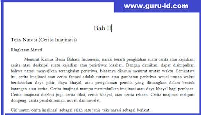 gambar ringkasan materi teks narasi mapel bahasa indonesia