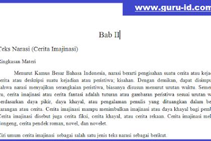 Ringkasan Materi Pelajaran Bahasa Indonesia Teks Narasi Kurikulum 2013 Tahun 2018