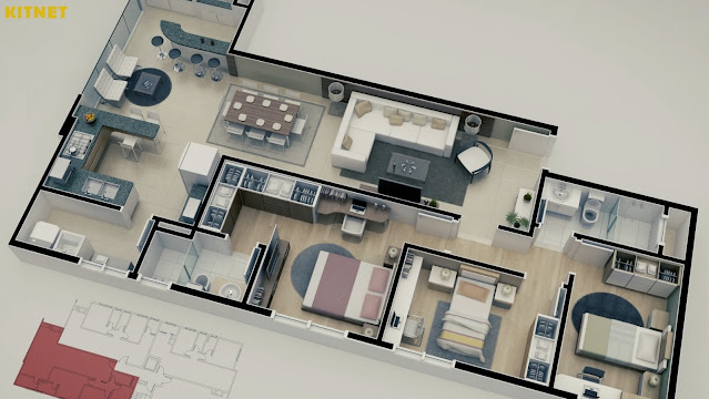 apartamentos antigos e grandes com 3 quartos