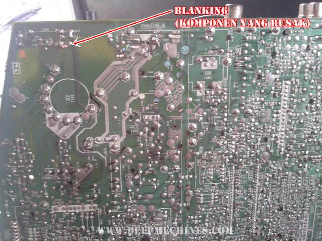 Kerusakan Blanking TV SONY 14-Inch (KV-J14P2S)