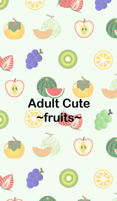 Adult Cute -fruits-