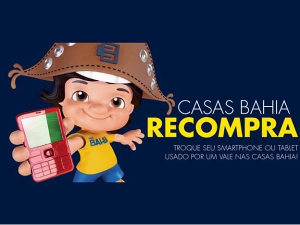 Troque seu celular ou tablet usado por vale nas Casas Bahia