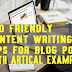 SEO Friendly Content Writing 10 Tips For Blog post With Example