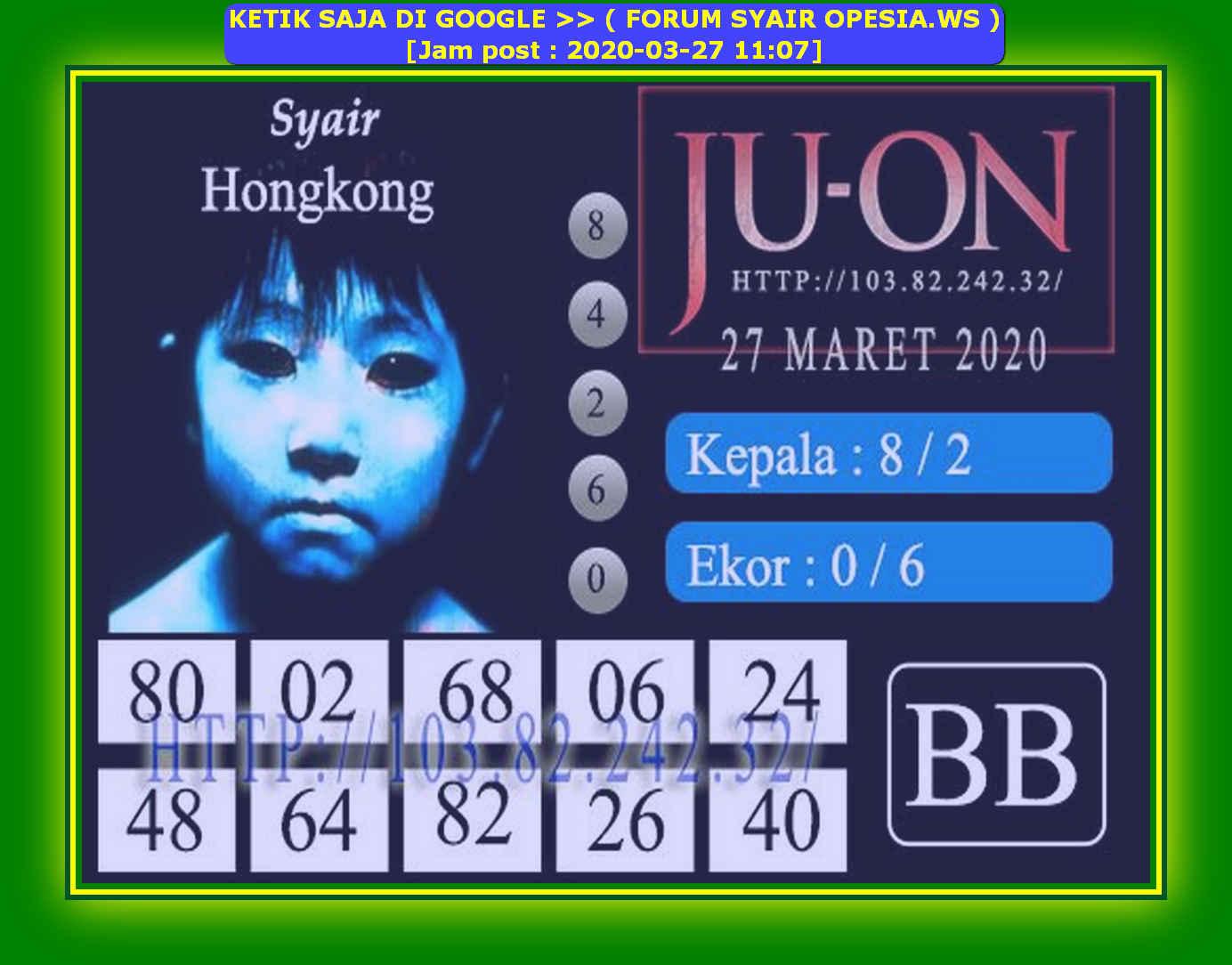 Kode syair Hongkong Jumat 27 Maret 2020 144
