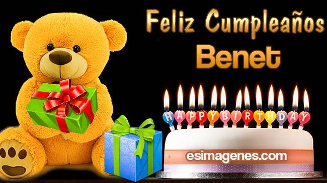 Feliz Cumpleaños Benet