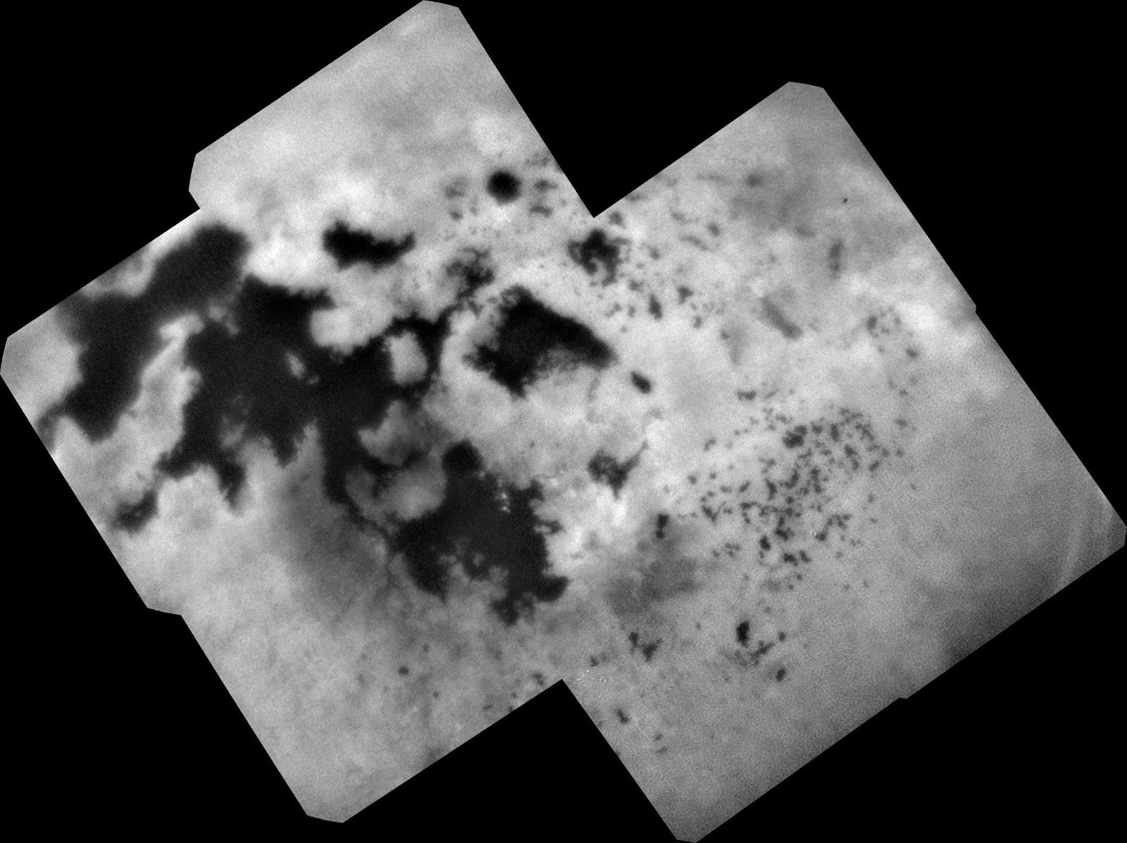 Imagen de Titán, luna de Saturno, capturada por la misión Cassini de la NASA