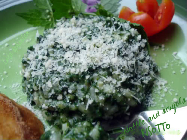 Nettle and arugula risotto by Laka kuharica: light and healthy risotto with young spring nettle.