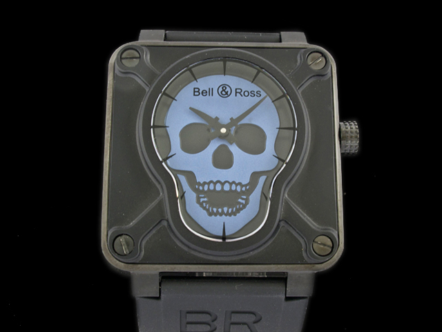 watch88  replica bell ross br01-92 Airborne skull automatic mens watch 2a6b5bc8527a