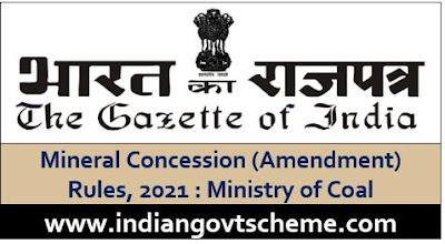 Mineral Concession (Amendment) Rules