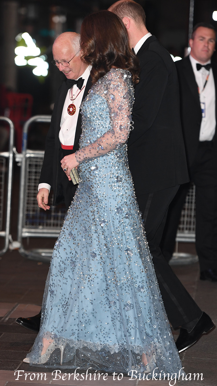 Kate in Glittering Blue Gown for Royal Variety Performance