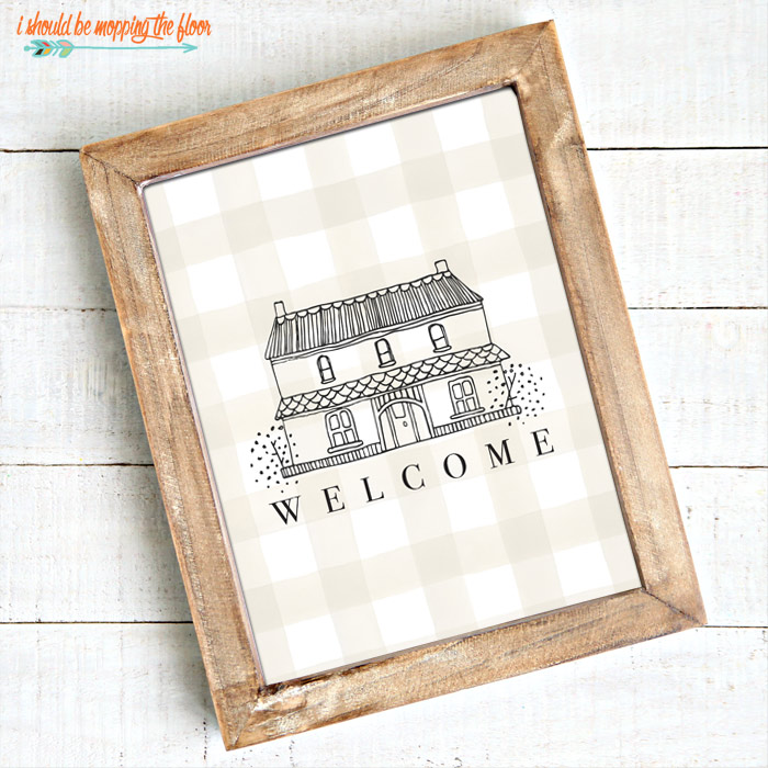 Welcome Printable with House