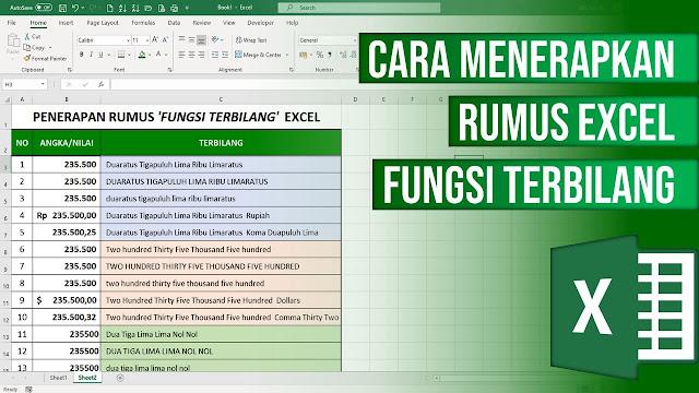 20 Contoh Rumus Excel Fungsi Terbilang dan Cara Menggunakannya
