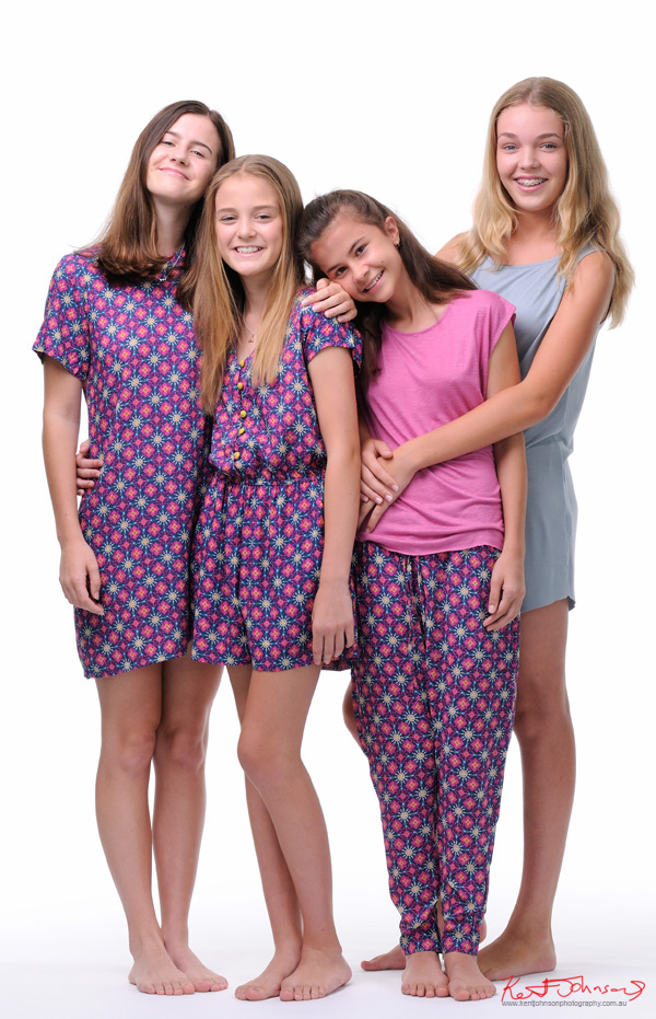 Friends, four models, Tween to Teen Fashion - Look-book & Branding Photography