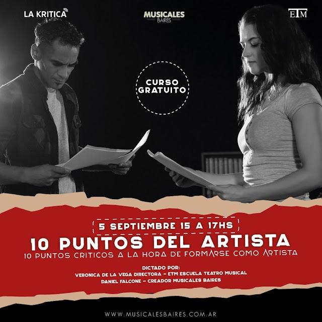"""Primer Master Class Musicales BAires """"LOS 10 PUNTOS DEL ARTISTA"""" Gratuito Sábado 12 Septiembre 15.00 hs."""