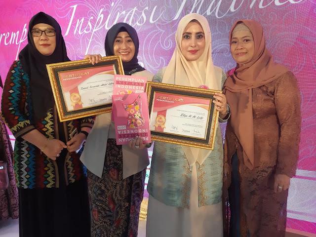 Hj. Ellya Alwaini Dinobatkan Sebagai Perempuan Inspirasi Indonesia 2019