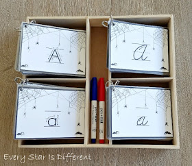 Spider Web Letter Writing Activity in Print and Cursive