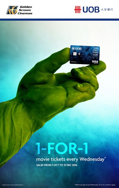 GSC Cinema Movie Ticket Discount Promo UOB Credit Card