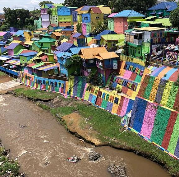 wisata Kampung Warna Warni Jodipan malang