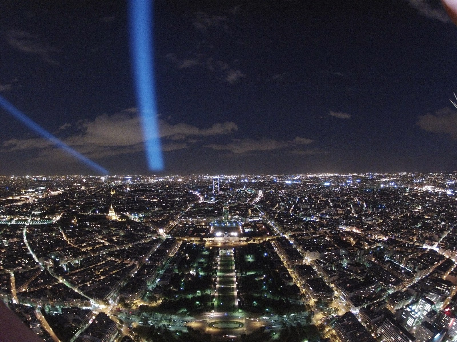 Vista desde la Torre Eiffel de noche