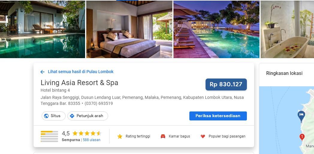 Living Asia Resort Honeymoon Lombok