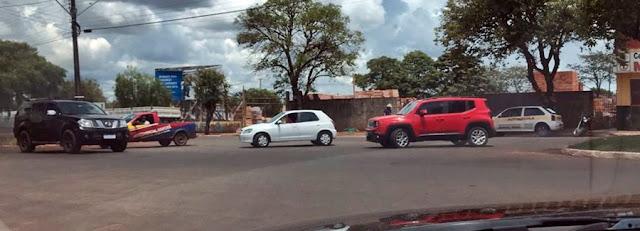 A imagem do dia... Trânsito em Manoel Ribas