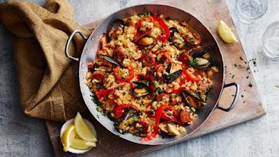 باييلا seafood paella بالفراخ والسي فود