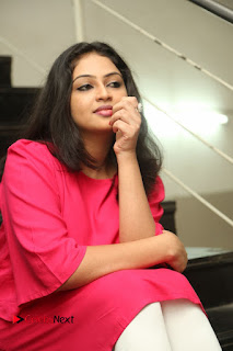 Actress Arundathi Nair Stills in Red Chididar at Bethaludu Success Meet  0102.JPG