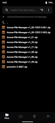 Aroma File Manager ZIP files