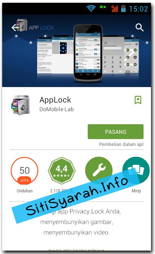 Cara kunci aplikasi BBM Android