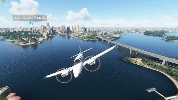 Microsoft Flight Simulator 2020 plane fly over the city