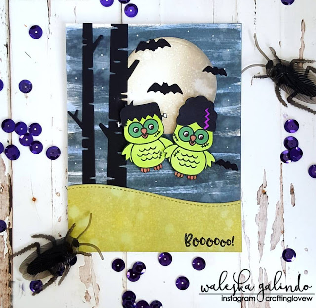 Sunny Studio Stamps: Sunny Saturday Happy Owl-o-ween Card Share by Waleska Galindo