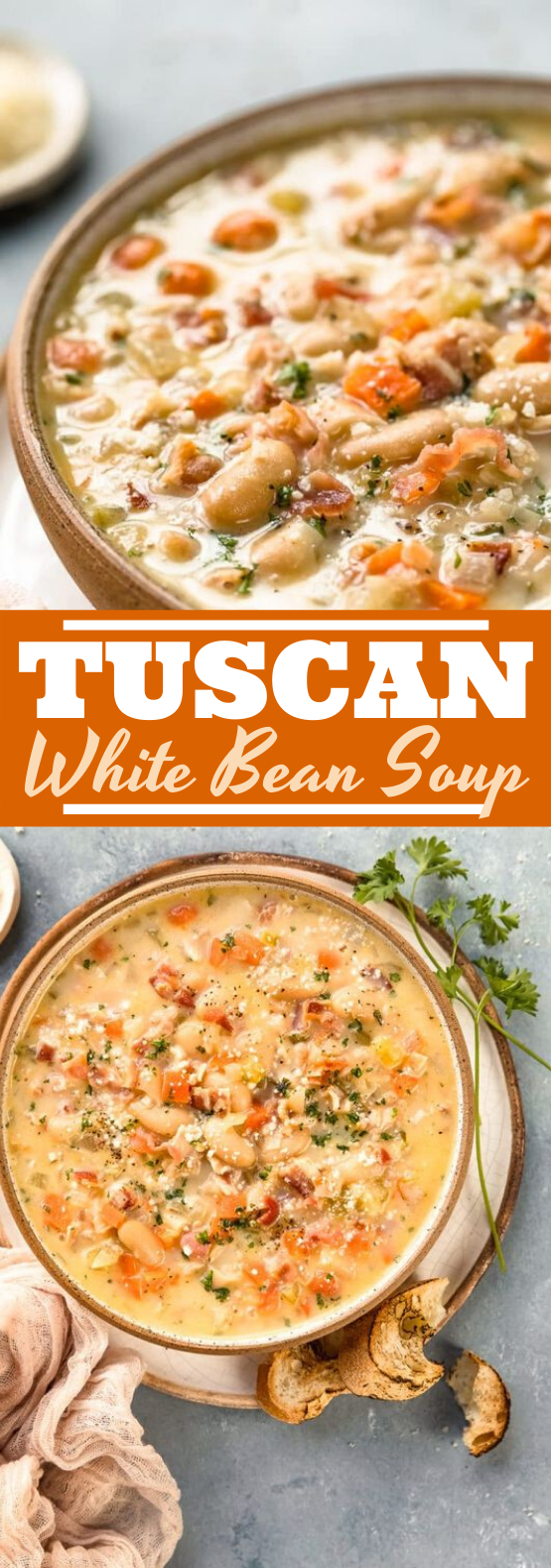 Tuscan White Bean Soup #dinner #soup #comfortfood #fall #recipes