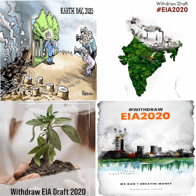 Protests in India Against 'EIA 2020 Draft' with Hashtags #stopEIA2020, #withdrawEIA2020, #SaveEIA2020